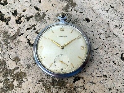 RARE VINTAGE CERTINA Cal.261 POCKET WATCH SWISS MADE s.XX  FOR REPAIR