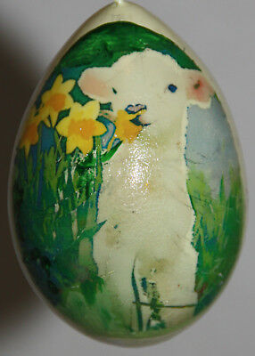 gourd Easter egg, yard or Christmas ornament with sheep