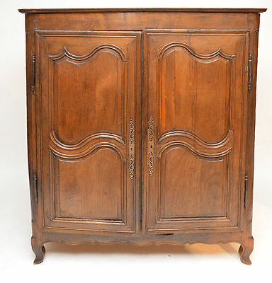 Antique Oak French Two Door Armoire or Entertainment Center