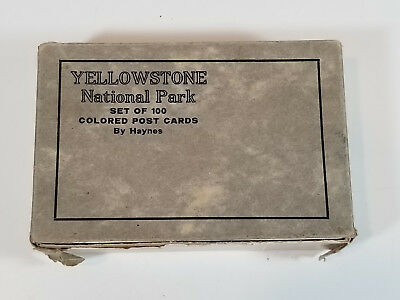 Vintage Linen YELLOWSTONE Postcards COMPLETE Box of 100 by Haynes