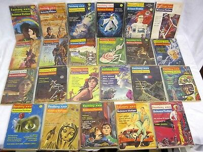 Magazine of Fantasy & Science Fiction 131 issues 1950s - 1980s Vintage Sci Fi