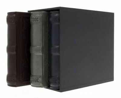 "Eco Leather Vintage Slip In Photo Album Box Set Of 3 x 200 6"" x 4"" Memo Gift"