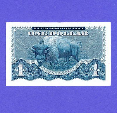$1 Military Payment Certificate Series 692 WITH BUFFALO CRISP AU/UNC NOTE
