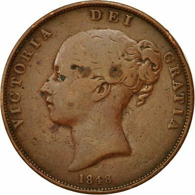 [#543152] Coin, Great Britain, Victoria, Penny, 1848, EF(40-45), Copper, KM:739