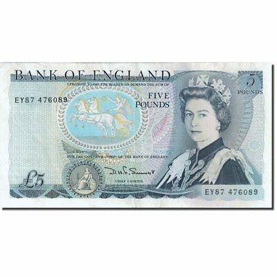 [#271902] Banknote, Great Britain, 5 Pounds, 1971-1982, 1980-1987, KM:378c