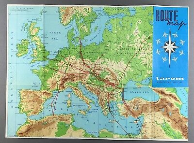 Tarom Romanian Air Transport Route Map