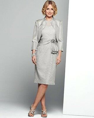 beautiful outfit silver mother of the bride size 12 BNWT