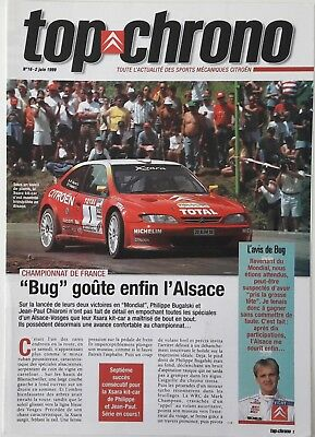 Magazine CITROEN SPORT officiel Top Chrono N°16 Juin-1999 reveal Xsara WRC Loeb