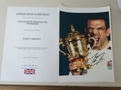 signed Martin Johnson Rugby World Cup 2003 & bits