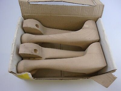 "Wooden Vintage Fobel Reproduction Fobelegs BNIB. Queene Anne 9"". Made In England"