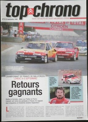 Magazine CITROEN SPORT officiel Top Chrono N°19 sept-1999 Xsara Xantia 4x4 Turbo