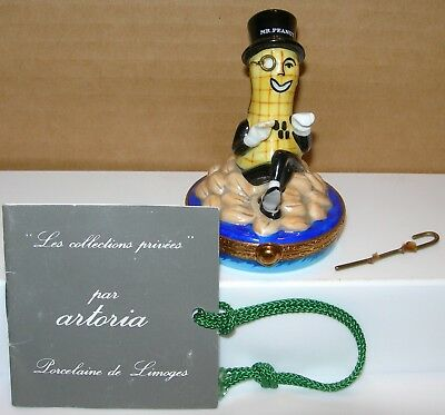 Artoria Limoges Mr Peanut Porcelain Trinket Box