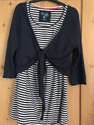 Frugi Nursing Stripey Top With Navy Blue Cardigan Large 16 18