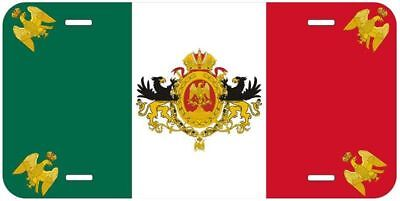 Mexican Empire Flag 1864-67 Aluminum Auto License Plate Car Novelty FREE POSTAGE