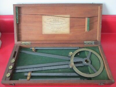 19th C - H. HUGHES - LONDON - SHIP SEXTANT w/ Orig Case - #1