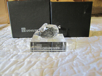 Cathay Bank Crystal Glass Mouse Paperweight - Swarovski – Figurine