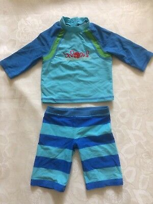 Baby Swimsuit, UPF 40+, 12-18 Months, John Lewis, Exc Cond