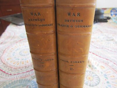 My Experiences Of The War Between Francs & Germany I And Ii Leather Book Set Lon