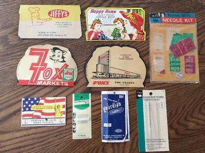 Vintage Assortment Sewing & Quilting Needle Books Straight Pins Japan Germany