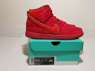 Nike Dunk High Premium SB CHINESE NEW YEAR CNY YEAR OF THE HORSE YOTH RED new ds
