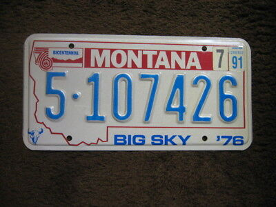 1991 Montana License Plate - Lewis And Clark County