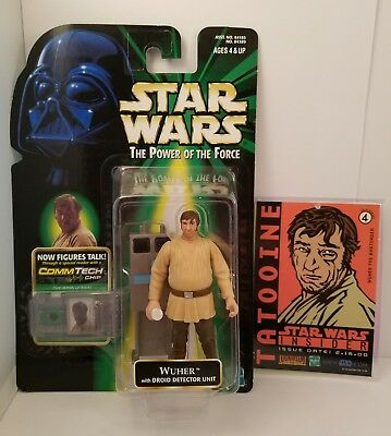 Hasbro Kenner Star Wars Power of the Force CommTech WUHER Fan club figure New