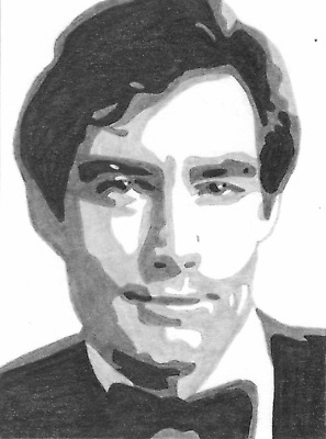 James Bond Timothy Dalton Sketch Card The Living Daylights Licence to Kill ACEO
