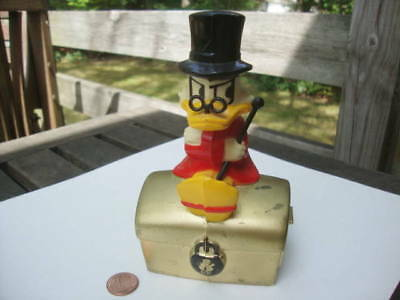 Vintage RARE Scrooge McDuck KOP Sitting on Treasure Chest Bank MK Finland Made!