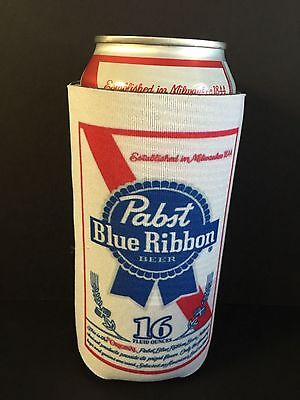 Pabst Blue Ribbon PBR Beer Koozie 16 oz Tall Can Cooler Coozie ONE (1) NEW & F/S