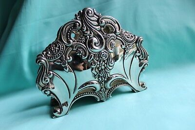 Silver Plated Godinger Silver ART Co Ornate Footed Gift Card / Letter Holder