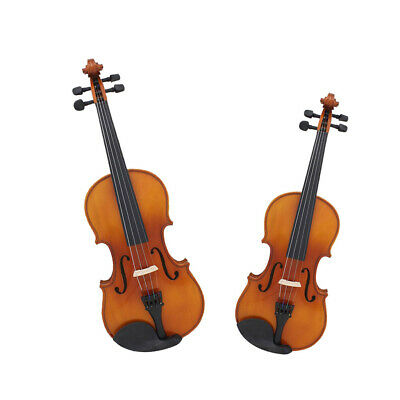 1 Set Spruce 4/4 3/4 Size Violin with Bow Case Rosin for Violinist Students