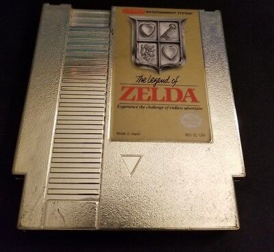 THE LEGEND OF ZELDA, 3-SCREW WHITE SEAL, cartridge for NES, UNTESTED