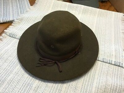 Early 1900's Sigmund Eisner Boy Scouts Of America Scout Master Hat Size 7 FREE