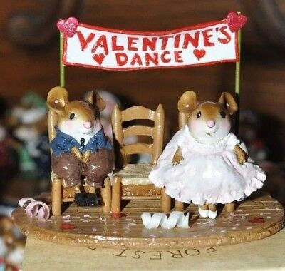 WILL HE OR WON'T HE? by Wee Forest Folk, WFF# M-385, Retired 2011 Valentines Day
