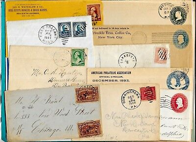 Us Postal History-- Collection Builder Lot Of 10 Different Early Covers  (N5528)
