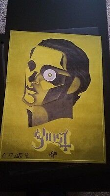 Ghost popestar vip papa emeritus limited edition poster print