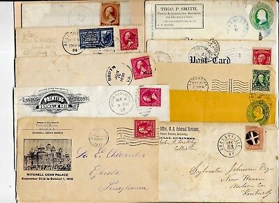 Us Postal History-- Collection Builder Lot Of 10 Different Early Covers  (N5529)