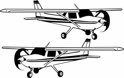 "Cessna  150 152 Aircraft Sticker/Decal 12"" wide!"