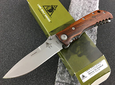 Lone Wolf Knives Harsey T1 Tactical S30V Blade Rosewood Handle PRE BENCHMADE NIB