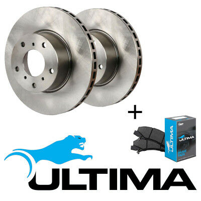 New Ultima Front Rotors+Pads Fit Holden Commodore Berlina Vt Vx Vy Vz 1997-2007