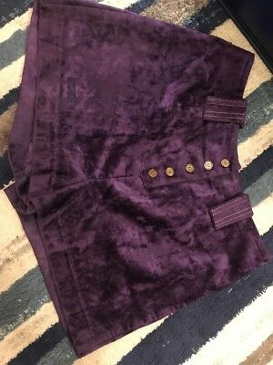 Vintage Purple Velvet Shorts By Bogart Of Texas