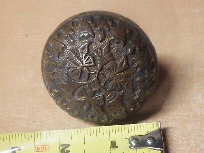 "Antique Brass Embossed Eastlake Victorian Butterfly Brass Door Knob 2"" #1"