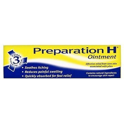 Preparation H Ointment Relieves Discomfort Soothes Haemorrhoids Piles 1X25G Tube