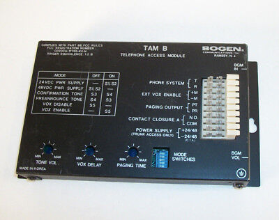 Bogen TAM B Telephone Access Module Paging Interface TAM-B