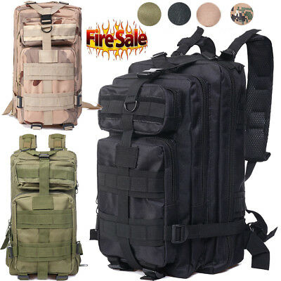 2018 35L Molle Outdoor Military Tactical Bag Camping Hiking Trekking Backpack PR