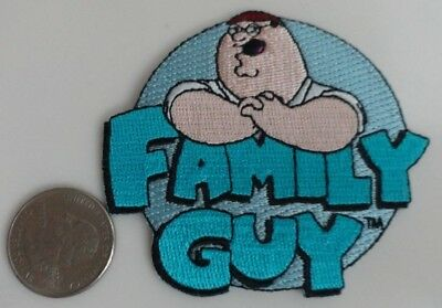 Family Guy TV Cartoon Circle Logo / Peter Griffin Iron On Patch New, Rare