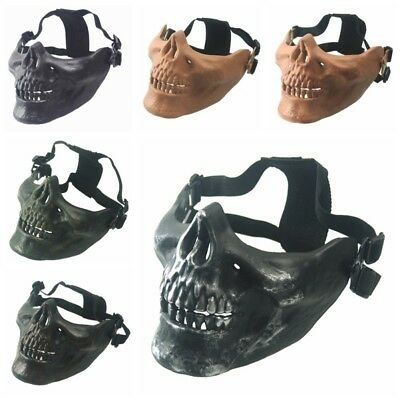 Skull Half Face Motorcycle Headwear Scary Horror Men Halloween Skeleton Mask AU
