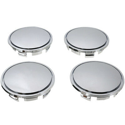 4xUniversal 65mm Auto Car Vehicle Wheel Center Rim Hub Chrome Decal Caps Cover