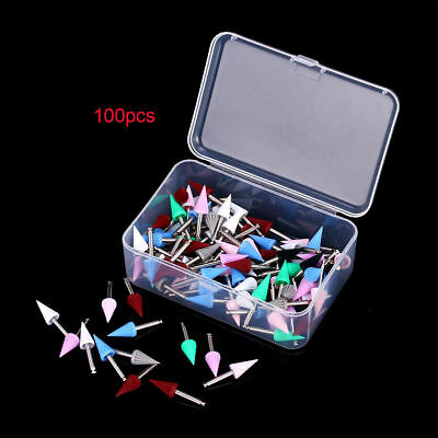 100 Pcs Dental Rubber Polishing Brush Prophy Polisher Cup Points Tapered Tucker