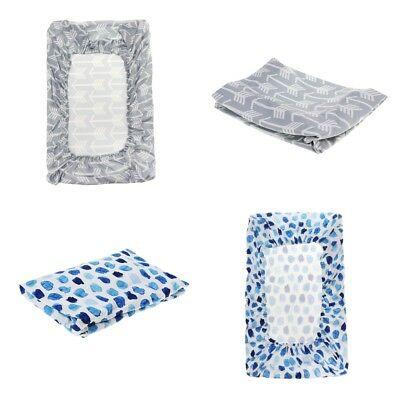 2Pcs Fit All Standard Changing Table Pad Cover for Infant Diaper Change